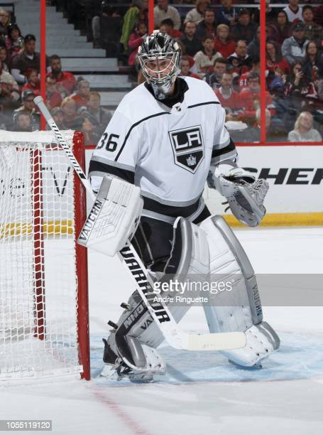 Jack Campbell of the Los Angeles Kings tends net against the Ottawa Senators at Canadian Tire Centre on October 13 2018 in Ottawa Ontario Canada