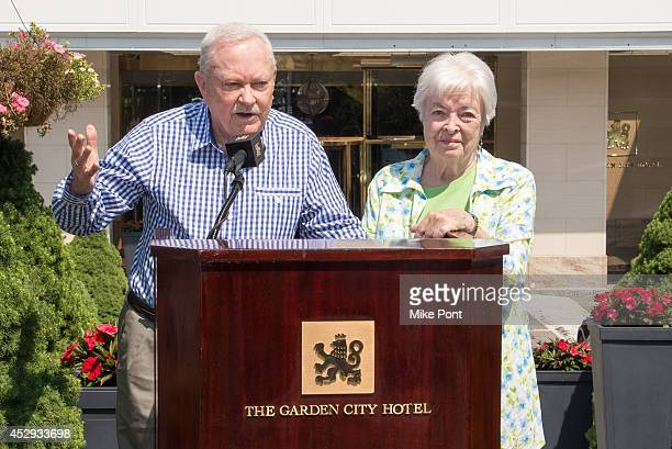 Jack Carroll and Connie Carroll who were married at the Garden City Hotel in 1954 attend The Garden City Hotel 140th Anniversary Celebration at...