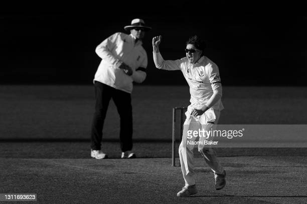 Jack Carson of Sussex appeals for an lbw but is later unsuccessful during the LV= Insurance County Championship match between Sussex and Lancashire...