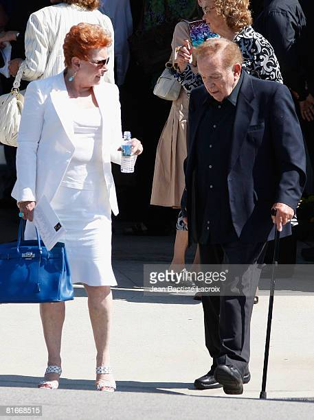 Jack Carter attends Cyd Charisse's Funeral Service at Hillside Memorial Park on June 22 2008 in Culver CityCalifornia