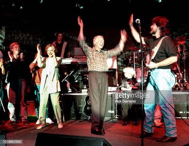 Jack Carter Elizabeth Carter Former First Lady Rosalynn Carter Former President Jimmy Carter and Randy Owen of Country Group Alabama on stage at...