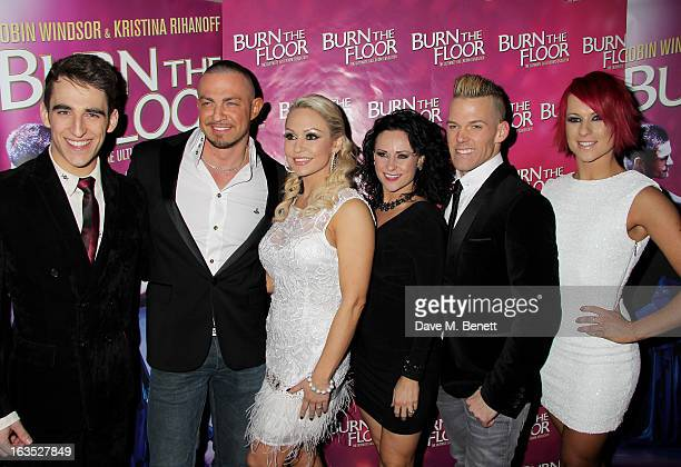 Jack Chambers Robin Windsor Kristina Rihanoff Giselle Peacock Patrick Helm and Jemma Armstrong attend an after party celebrating the press night...