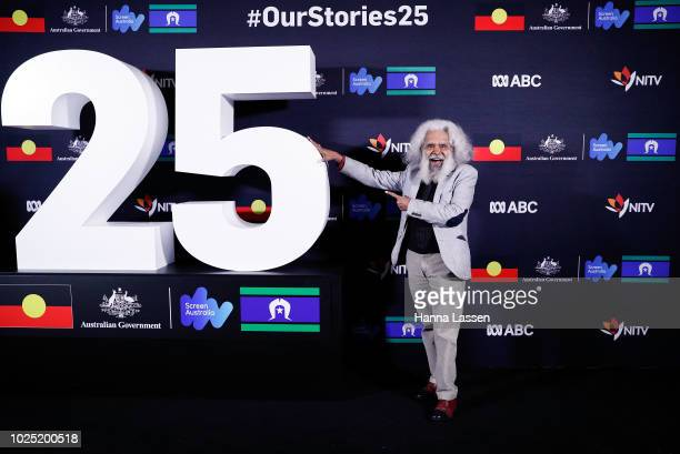 Jack Charles attends the 25th Anniversary of Screen Australia's Indigenous Department at Carriageworks on August 30 2018 in Sydney Australia
