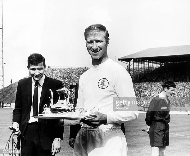 Jack Charlton Leeds United football player receives a silver tea set in recognition for his long service to the club September 1969 Youth Career...