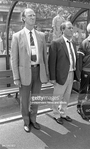 Jack Charlton Maurice Setters during the Ireland v Holland match at Euro '88