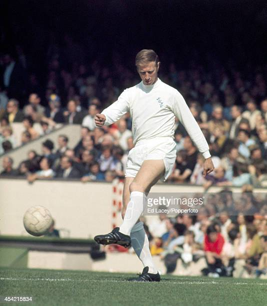 Jack Charlton of Leeds United in action against Arsenal during their Division One football match at Highbury on 11th September 1971 Arsenal beat...