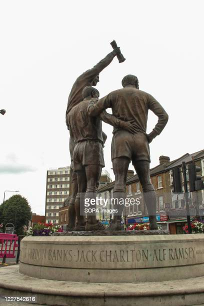 Jack Charlton's name who passed away on 10 July 2020 engraved on the base of the Champions sculpture at the former West ham United ground Jack was...