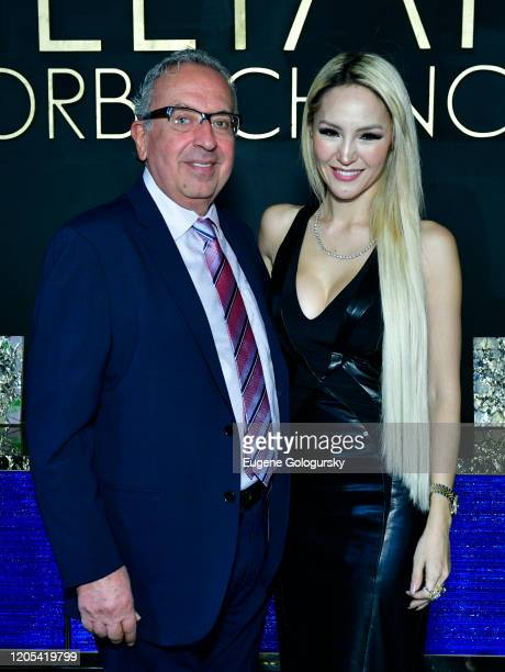Jack Chehebar and Lillian Gorbachincky attend the Andrea Bocelli Foundation Lillian Gorbachincky Present First Annual Luncheon at AD Building on...