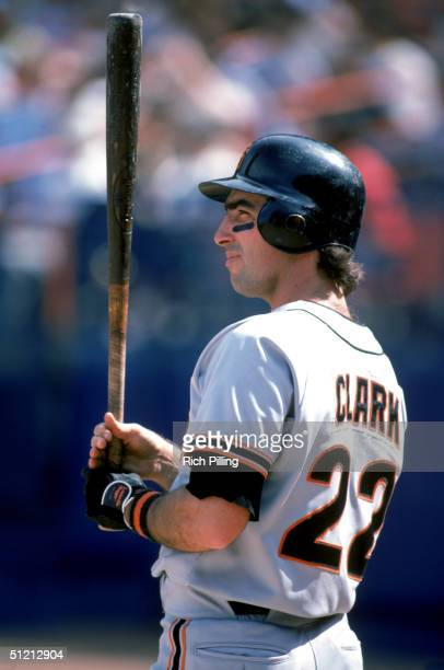 Jack Clark of the San Francisco Giants stands ready at the plate during a 1983 season game Jack Clark played for the San Francisco Giants from...