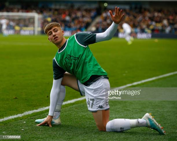 Jack Clarke of Leeds United during English Sky Bet Championship between Millwall and Leeds United at The Den London England on 05 October 2019