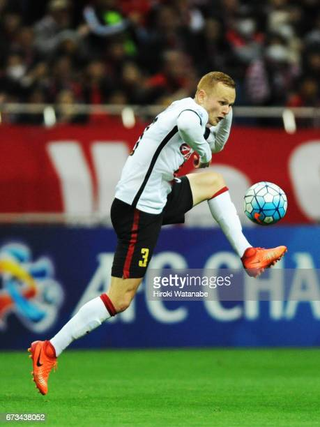 Jack Clisby of Western Sydney in action during the AFC Champions League Group F match between Urawa Red Diamonds and Western Sydney at Saitama...