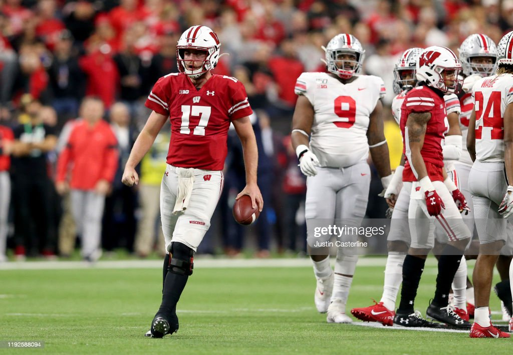Big Ten Football Championship - Ohio State v Wisconsin : News Photo