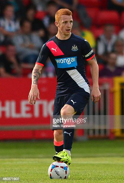 Jack Colback of Newcastle in action during the pre season friendly between Gateshead and Newcastle United at Gateshead International Stadium on July...