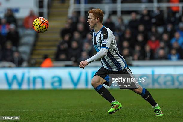 Jack Colback of Newcastle looks to receive the ball during the Premier League Match between Newcastle United and AFC Bournemouth at StJames' Park on...