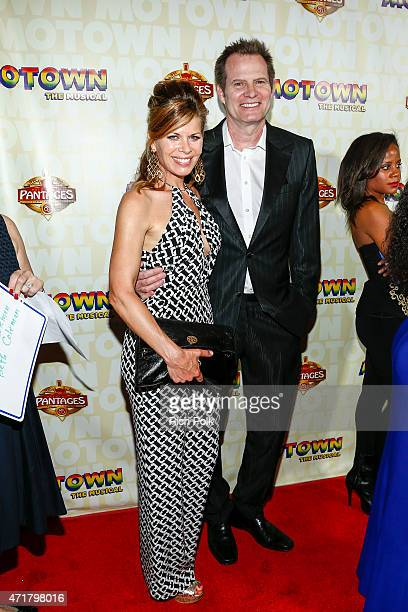 Jack Coleman and Beth Coleman attend MOTOWN THE MUSICAL at the Pantages Theatre on April 30 2015 in Hollywood California