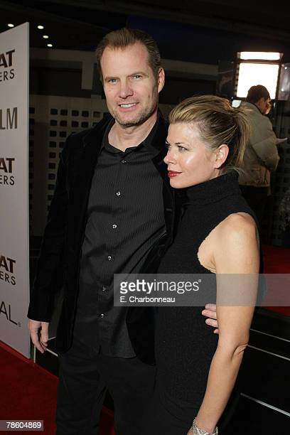 Jack Coleman and Beth Toussaint at the Weinstein Company premiere of The Great Debaters at the Arclight Theater on December 11 2007 in Hollywood...