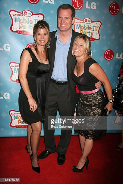 Jack Coleman and wife Beth Toussaint with Nicole Eggert