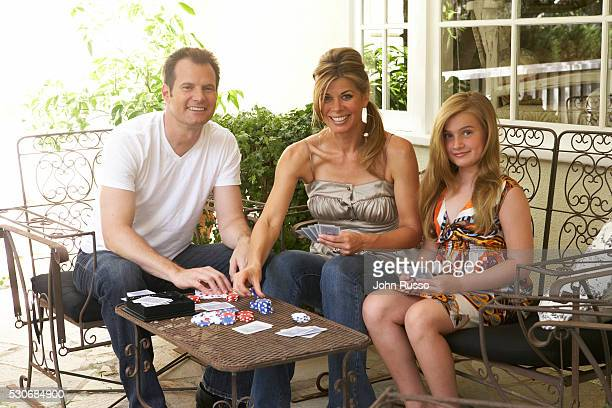 Jack Coleman at Home with Family in Los Angeles California