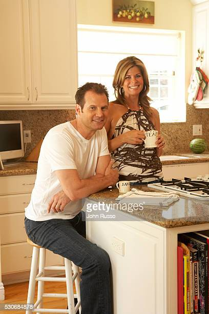 Jack Coleman at Home with Wife Beth in Los Angeles California