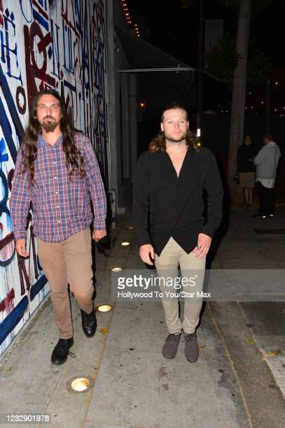 Jack Cook and Elliot are seen on May 14, 2021 in Los Angeles, California.