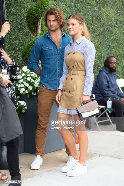 Jack Cook and Nina Agdal at Day 14 of the US Open held at the USTA Tennis Center on September 9, 2018 in New York City.