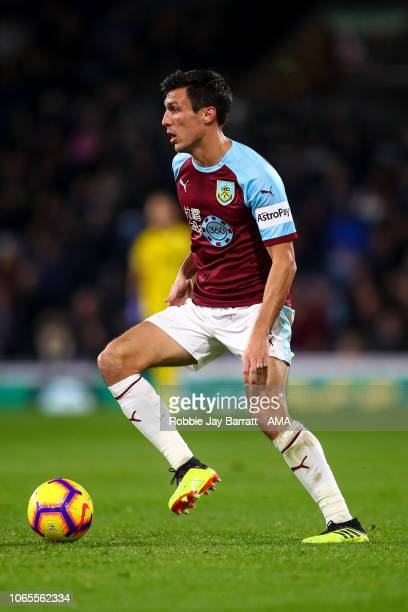 Jack Cork of Burnley during the Premier League match between Burnley FC and Newcastle United at Turf Moor on November 26 2018 in Burnley United...