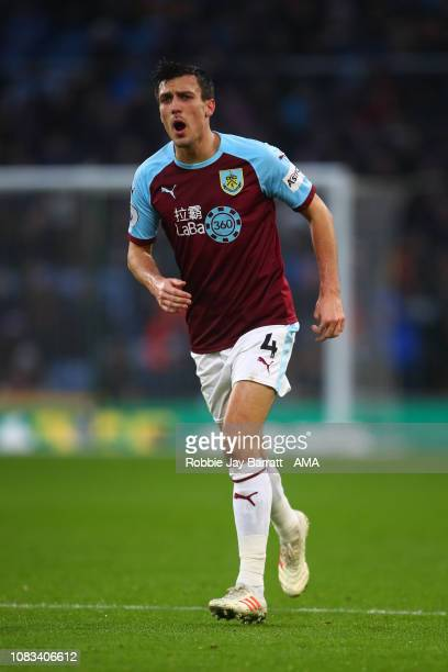 Jack Cork of Burnley during the Premier League match between Burnley FC and Fulham FC at Turf Moor on January 12 2019 in Burnley United Kingdom