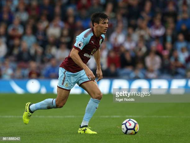 Jack Cork of Burnley during the Premier League match between Burnley and West Ham United at Turf Moor on October 14 2017 in Burnley England