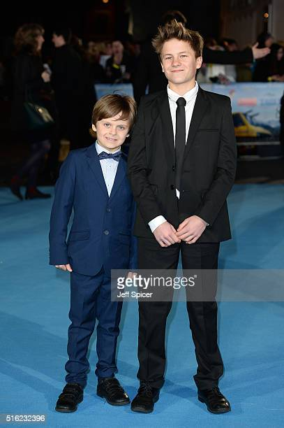 Jack Costello arrives for the European premiere of 'Eddie The Eagle' at Odeon Leicester Square on March 17 2016 in London England