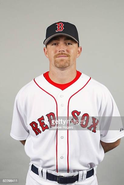 Jack Cressend of the Boston Red Sox poses for a portrait during photo day at City of Palms Park on February 26 2005 in Ft Myers Florida