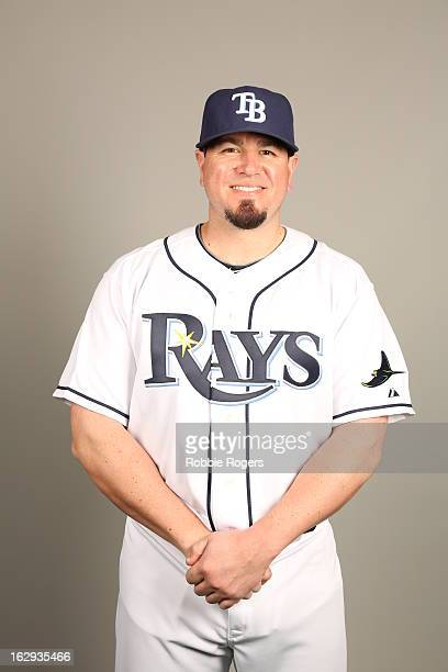 Jack Cust of the Tampa Bay Rays poses during Photo Day on February 21 2013 at Charlotte Sports Park in Port Charlotte Florida