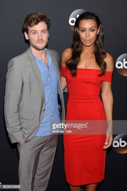 Jack CutmoreScott and Ilfenesh Hadera attend the 2017 ABC Upfront on May 16 2017 in New York City