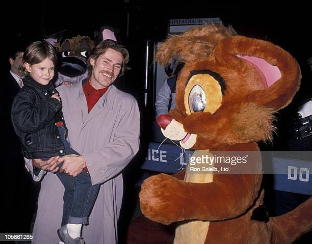"Jack DaFoe and Willem DaFoe during ""Oliver & Company"" Premiere - November 13, 1988 at Ziegfeld Theater in New York City, NY, United States."
