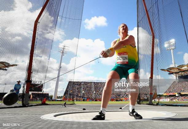 Jack Dalton of Australia competes in the Men's Hammer final on day four of the Gold Coast 2018 Commonwealth Games at Carrara Stadium on April 8 2018...