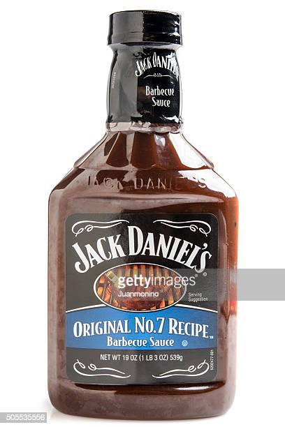 jack daniels original no 7 recipe barbecue sauce - barbeque sauce stock photos and pictures