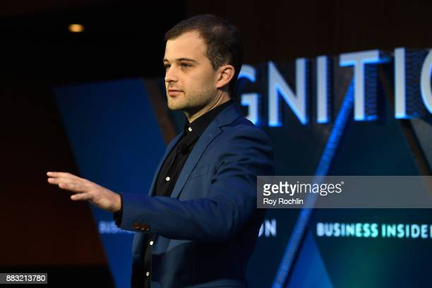 Jack Davis Crypt TV CEO and Founder speaks onstage at IGNITION Future of Media at Time Warner Center on November 29 2017 in New York City