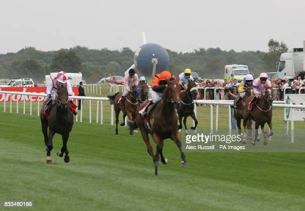 Jack Dawkins ridden by Ted Durcan and trained by Henry Cecil wins Fountain Spa at Barrington House Nursery Handicap at Doncaster Racecourse.