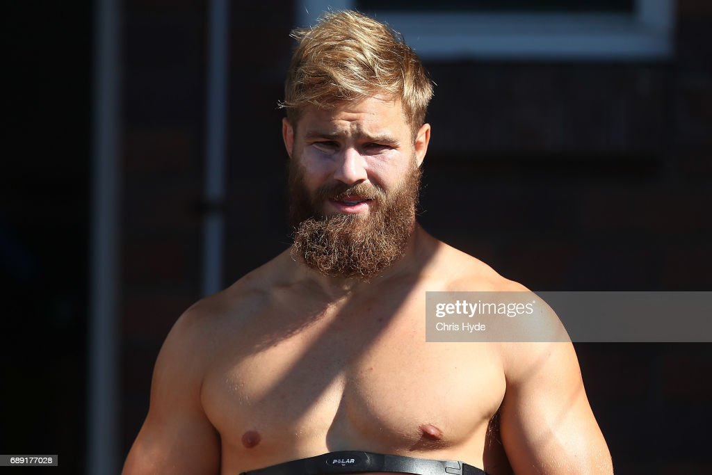 Jack De Belin looks on during a New South Wales Blues Origin training session at Cudgen Leagues Club on May 28, 2017 in Kingscliff, Australia.