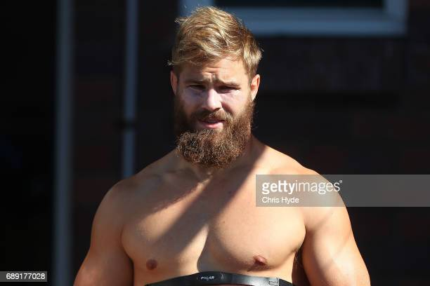 Jack De Belin looks on during a New South Wales Blues Origin training session at Cudgen Leagues Club on May 28 2017 in Kingscliff Australia