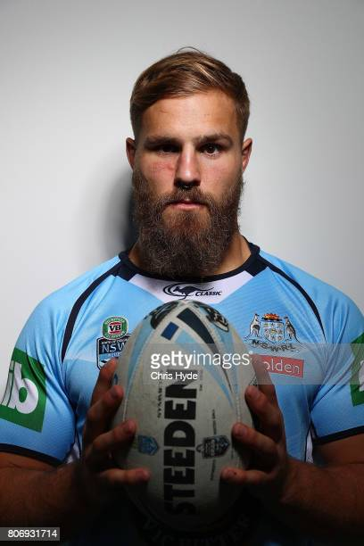 Jack de Belin poses during the New South Wales Blues State of Origin media opportunity at Salt Beach on July 4 2017 in Kingscliff Australia