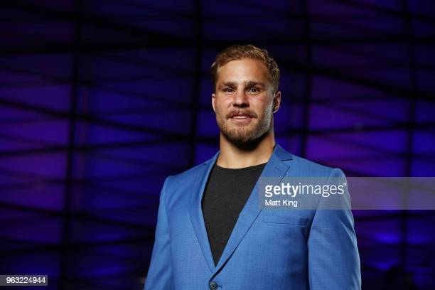 Jack de Belin poses during the New South Wales Blues State of Origin Team Announcement at The Star on May 28 2018 in Sydney Australia