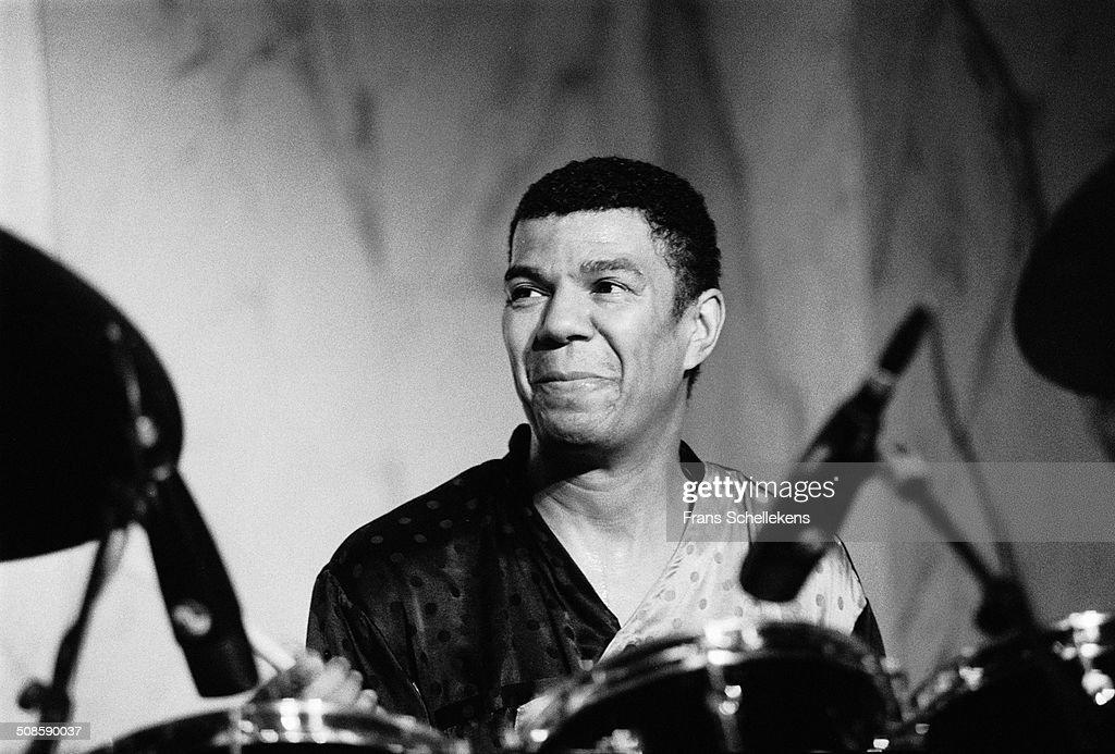 Jack de Johnnette, drums, performs at the Heineken Jazz Festival at the Doelen in Rotterdam, Netherlands on 19th October 1991.