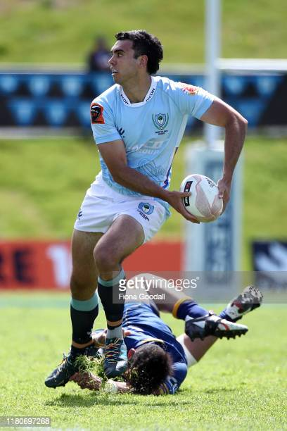 Jack Debreczeni of Northland looks to pass during the round 10 Mitre 10 Cup match between Northland and Otago at Semenoff Stadium on October 13 2019...