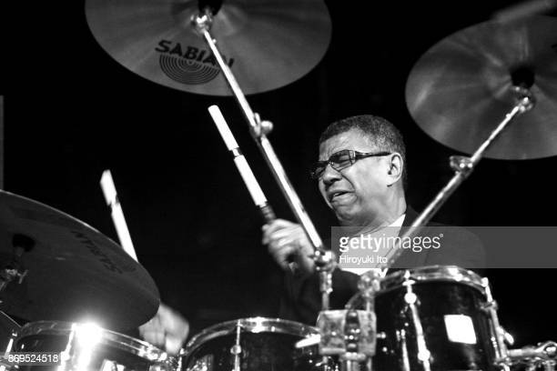 Jack DeJohnette on drums performing in 'Ascension Ceremony' dedicated to the late Alice Coltrane at the Cathedral Church of Saint John the Divine on...