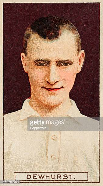 Jack Dewhurst captain of Bury FC featured on a vintage cigarette card published in London circa 1908
