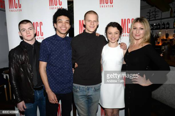Jack DiFalco Justice Smith Lucas Hedges Stefania LaVie Owen and Ari Graynor attend the Yen opening night after party at SushiSamba 7 on January 31...