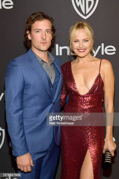 Jack Donnelly and Malin Akerman attend the 2019 InStyle and Warner Bros 76th Annual Golden Globe Awards PostParty at The Beverly Hilton Hotel on...