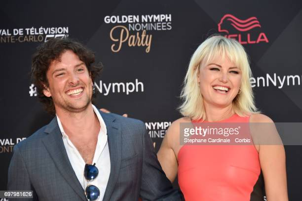 Jack Donnelly and Malin Akerman attend the Golden Nymph Nominees Party at the MonteCarlo Bay Hotel on June 19 2017 in MonteCarlo Monaco