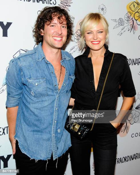 Jack Donnelly and Malin Akerman attend the Party for the 2nd Anniversary of Lenny at The Jane Hotel on September 15 2017 in New York City