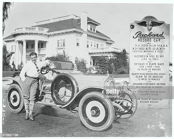Jack Donovan and his record breaking Packard.